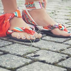 DIY easy summer flip flops