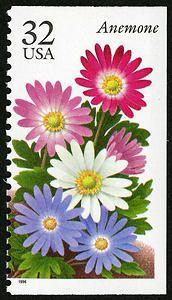 32c Anemone USA postage stamp