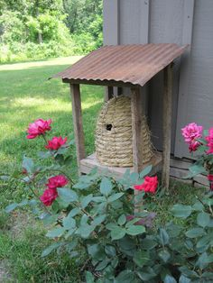 bee garden, backyard bees, english cottages, primitive country gardens, beeskep