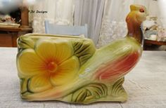 Vintage Collectible Hull Pottery Pheasant Sunglow