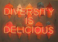 Philip Hazard - Diversity Is Delicious Neon Sign