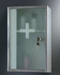 Ketcham 9.75W x 15.75H-in. Lockable Surface Mount Medicine Cabinet modern medicine cabinets