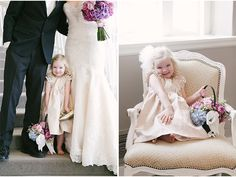 Cute and happy flower girl