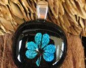 Dichroic Shamrock Pendant, Fused Glass Jewelry, St Patricks Day Pendant, Dichroic Jewelry. $22.00, via Etsy.