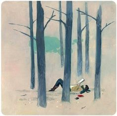 forests, books, wood, illustrations, danna ray, art, paintings, shakespeare quotes, print