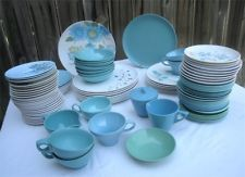 Huge Lot Vintage Retro Melamine Melmac Dinnerware Dishes Turquoise Aqua