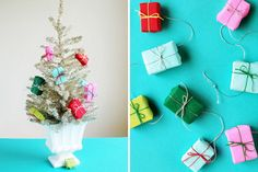 How adorable is this DIY mini present garland?