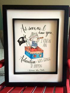 Children's Wall Art Print- Adventure Pirate Boy- Illustration for boy's room decor, pirate themed nursery