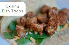 Easy Skinny Fish Tacos Recipe! #taco #recipes