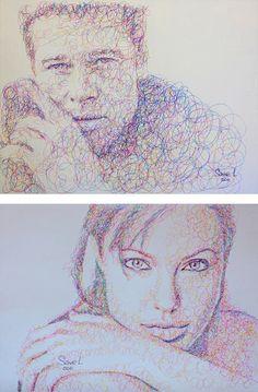 Scribble Portraits by Sergei  Vyacheslav Savelyev | Inspiration Grid | Design Inspiration