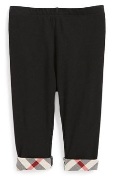 Burberry Check Cuff Pants (Baby Girls) available at #Nordstrom