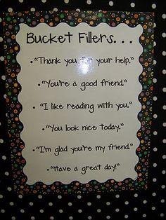 Bucket Fillers chart