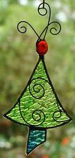 tree stained glass, green christmas, stained glass ornaments, christma tree, lime green, stain glass, glass christma, christmas trees, christmas tree ornaments