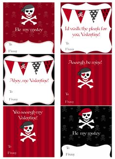 Pirate Valentines free printable  http://create-cdn.northridgepublishing.com/wp-content/uploads/2010/01/Picture-3.png