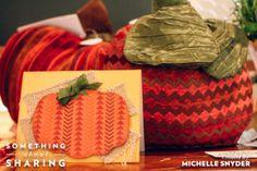 Embossing Pumpkin Card