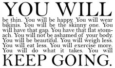 you will, keep going.