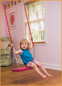 a swing in the house!! ahhh!!  so much fun!