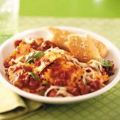 Ravioli Skillet Recipe from Taste of Home  #Quick_Dinner