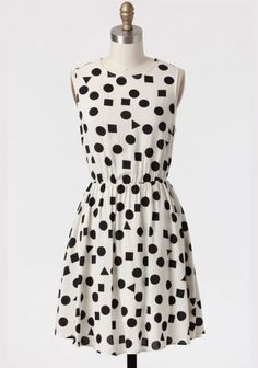 geometric polka dot dress