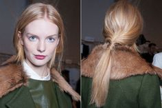 Fall 2013 hair trend: messy, low ponytail