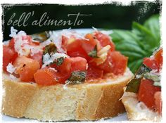 My favorite Bruschetta recipe!! I don't drizzle olive oil on top at the end though.