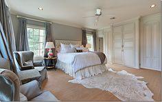 bedding, headboard, beds, floor, high ceilings, master bedrooms, carpet, dream bedrooms, bedroom curtains