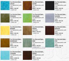basement remodel, stain color, conret creation, color charts, basement idea, acid stain