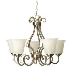 Foyer; Brushed Nickel; Craftmade 7124 lights, c7124bn5 builder, craftmad c7124bn5, chandeli chandeli, chandeliers, foyer, craftmad 7124, brush nickel, pot rack