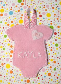 Handmade Baby Christmas Ornament Baby's First by cazrajane on Etsy