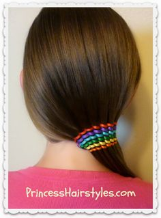 Waterfall Ribbon Twist #Rainbow #Hair Design