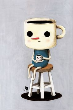Even coffee needs coffee to start the day!