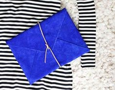 DIY suede envelope