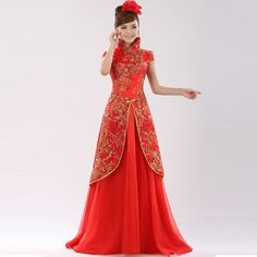 few highlights of chinese traditional bridal dresses are as follows