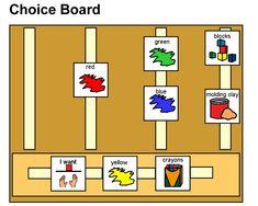Activity choice board