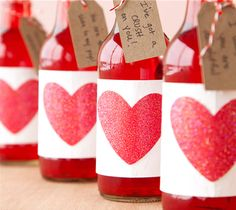 Valentine's Day Soda Pop Bottle Labels and Tags. Make It Now in Cricut Design Space