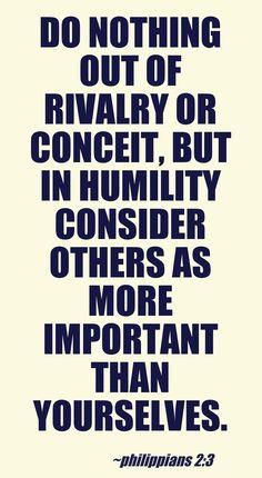 Philippians 2:3 #HCSB