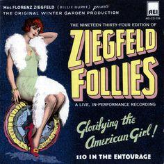 vintag, folli 1946, ziegfeld girl, poster, american girl, ziegfeld folli