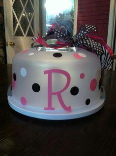 Monogrammed Cake Carrier
