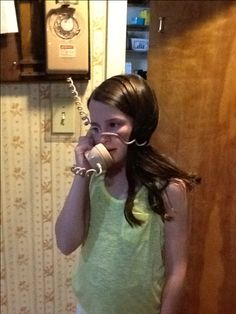 The fun of talking on an old fashioned phone... kids from today will never know. memori, 1980s fashion kids, telephon, cord