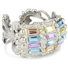 water, crystals, crystal silverton, adjust ring, sorrelli, ring 5250, decostyl crystal, running, silverton adjust