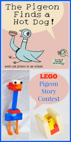 Pigeon Story Contest with LEGOs The Pigeon Builds a Story . . . out of LEGOs