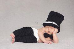 Newborn Tuxedo Wedding Outfit Baby Wedding by SweetnessInSmyrna, $58.99