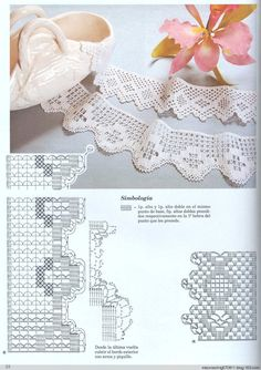 Crochet lace #11 ♥LCE♥ with diagram