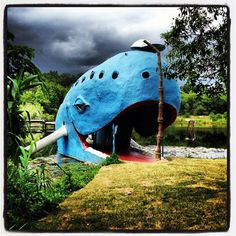 The Blue Whale is just a few miles east of Tulsa on Route 66 in Catoosa.