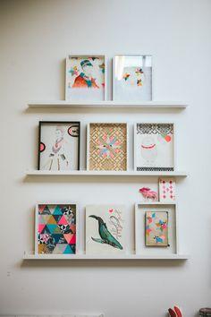 Lisa Congdon art wall