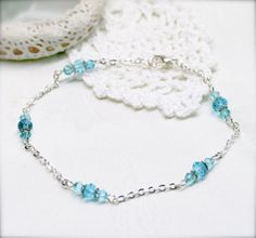 Twinkle ocean anklet by sophinegiam on Etsy, $8.00