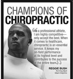 Professional athletes for chiropractic