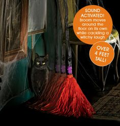 Dancing Broom!  Moves and plays music--  great new addition to your Halloween items : ))