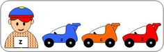 Print, cut and laminate cards.  Have the children clip a clothespin on the car with  the corresponding letter.