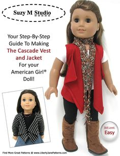 american girl doll cascade vest (free pattern to sew)